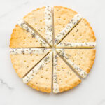 Perfect shortbread wedges- lavender shortbread cookies cut into triangles and dipped in white chocolate
