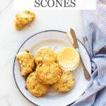 Lavender white chocolate scones