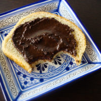 Homemade nutella on bread
