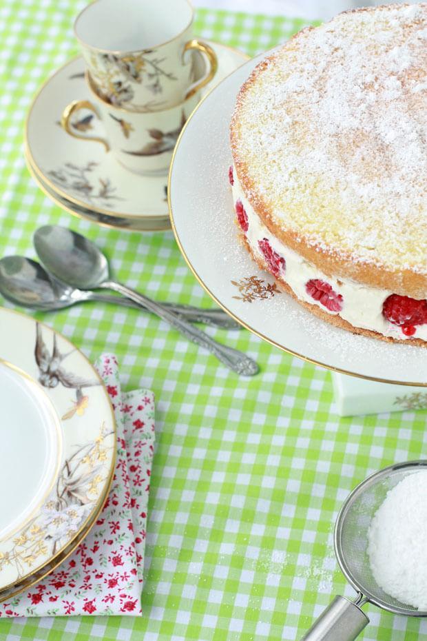Framboisier cake