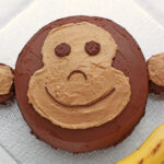 Monkey cake: Banana cake with chocolate ganache and peanut butter frosting