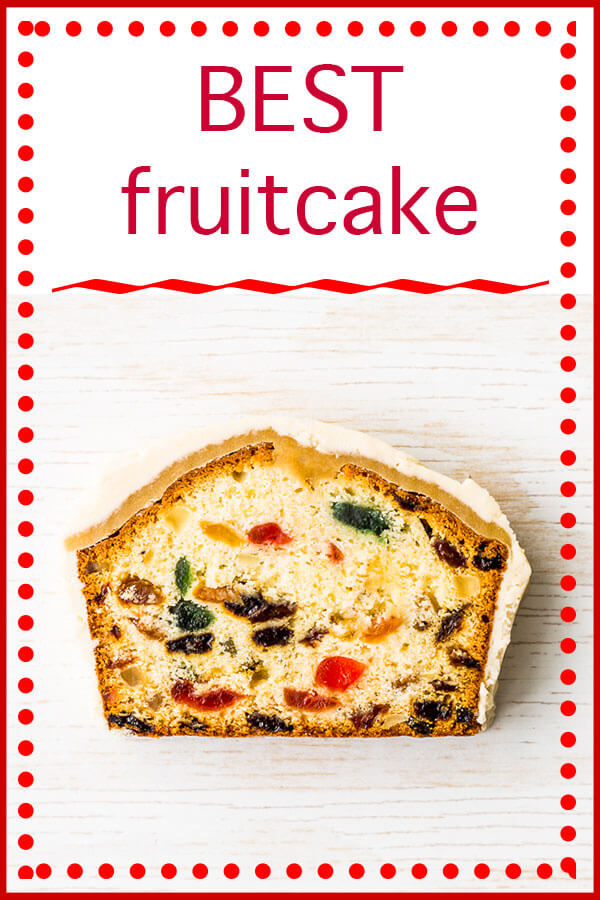 Title Best fruitcake, featuring a slice of