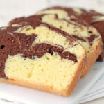 Easy chocolate marble loaf cake with sour cream