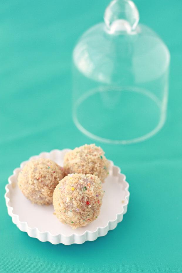Momofuku Milk bar birthday cake truffles are cake truffles made from cake scraps