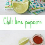 Easy chili lime popcorn is a healthy snack using citric acid instead of lime juice to keep popcorn crispy
