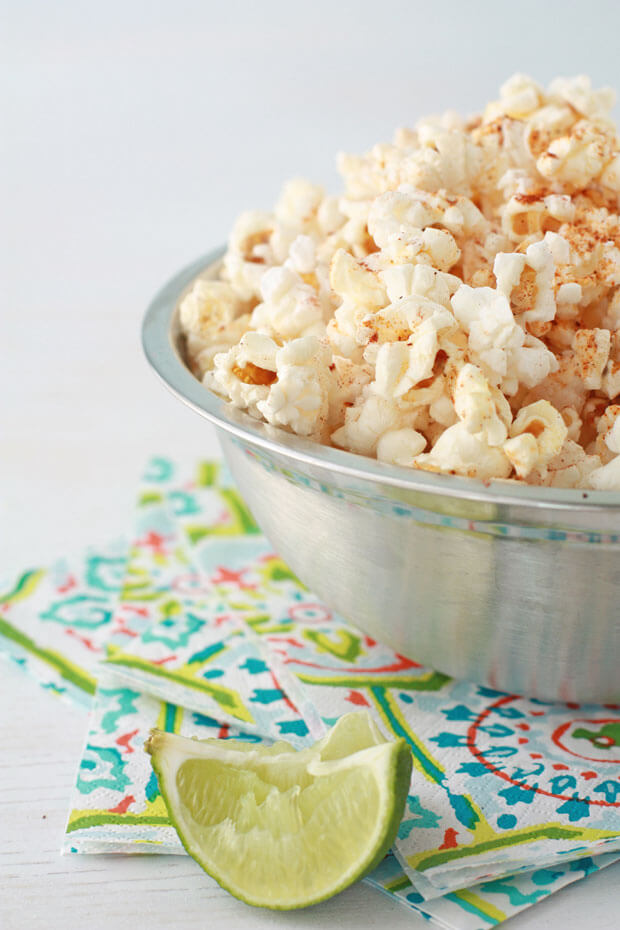 Spice up your popcorn with chili lime popcorn