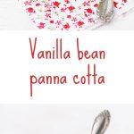 Vanilla bean panna cotta with berry jam