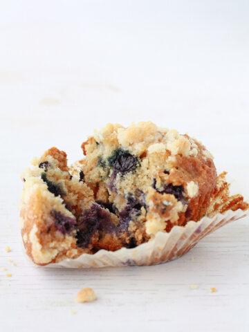Honey blueberry muffins