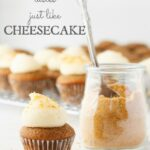 Apple cupcakes with thick pipeable cream cheese frosting