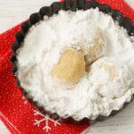 Vegan cookies: cardamom clementine snowballs