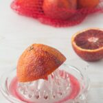 Reduced-sugar blood orange pâte de fruit