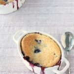 Easy wild blueberry cobbler