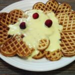 'Tis the season for cranberry waffles and eggnog crème anglaise