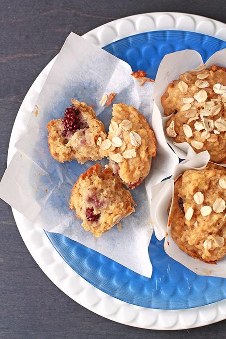 apple blackberry breakfast muffins