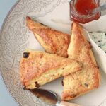 Date and blue cheese scones
