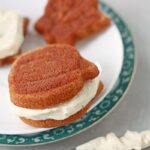 Pumpkin spice whoopie pies with brown butter cream cheese frosting