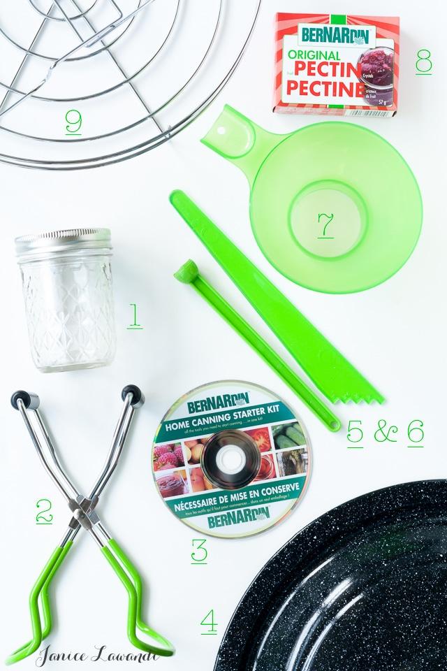 Beginner's canning kit from Bernardin