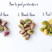 How to peel pistachios