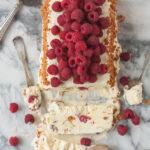 Almond raspberry semifreddo