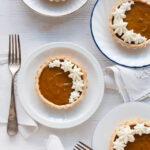 Mini pumpkin pie tarts without evaporated milk