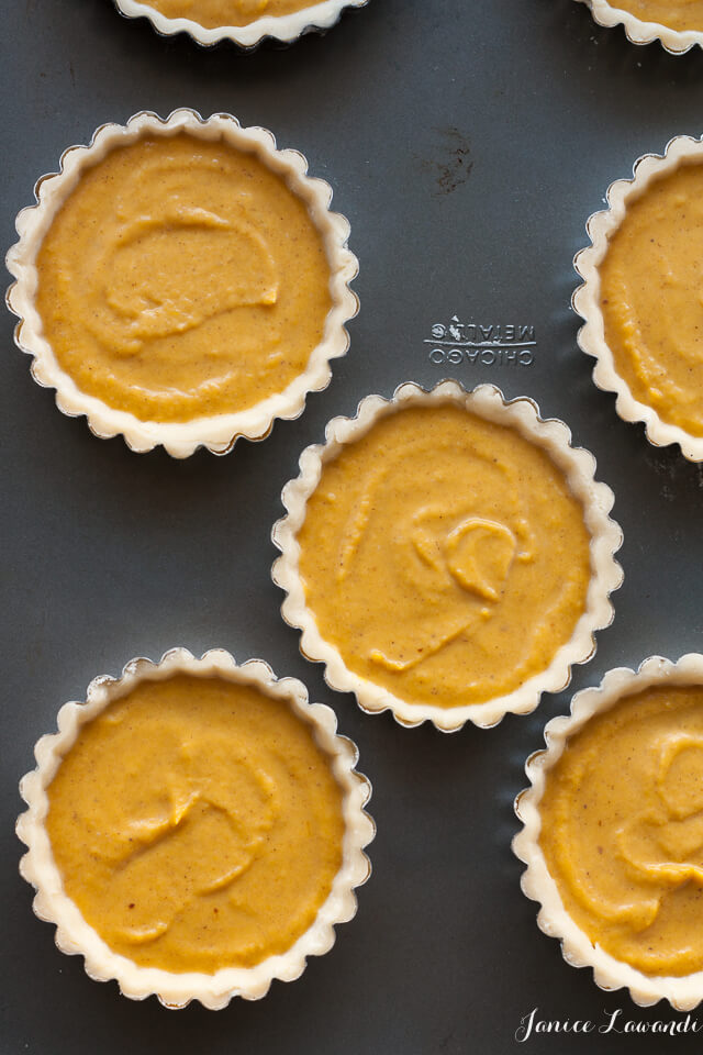 Pumpkin tarts ready for the oven