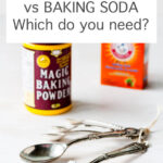 Baking soda vs baking powder: which chemical leavener do you need?