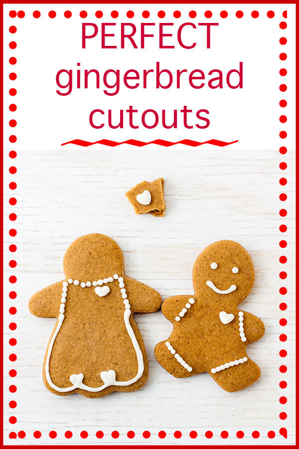 Gingebread boy and gingerbread girl with gingerbread hearts