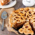 sliced maple apple pie
