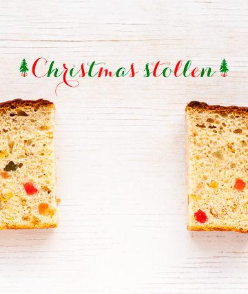 Christmas stlollen bread