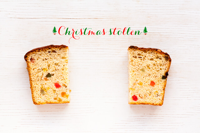 Christmas stlollen bread