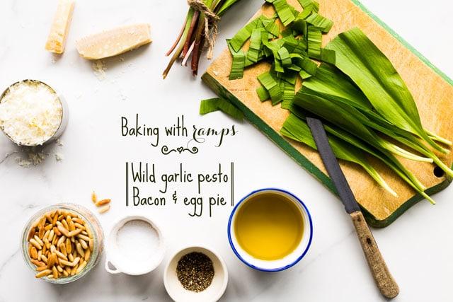 Baking with ramps | Kitchen Heals Soul https://www.kitchenhealssoul.com/2016/05/26/bacon-egg-pie/html