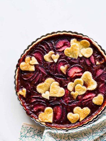 Plum tart recipe | @ktchnhealssoul