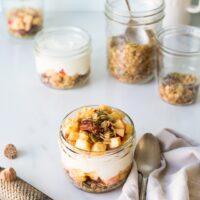 sweetango apple pie yogurt parfait with granola