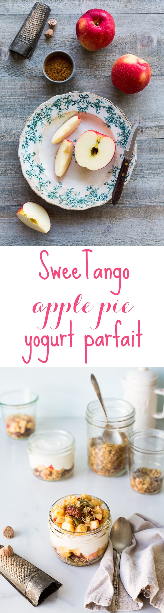 sweetango apple pie parfait with greek yogurt
