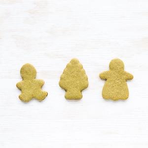 matcha gingerbread cutout cookies
