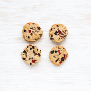 Easy slice-and-bake Fruitcake cookies