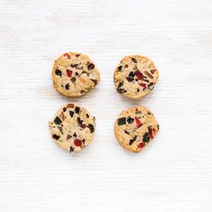 Easy slice-and-bake Fruitcake cookies