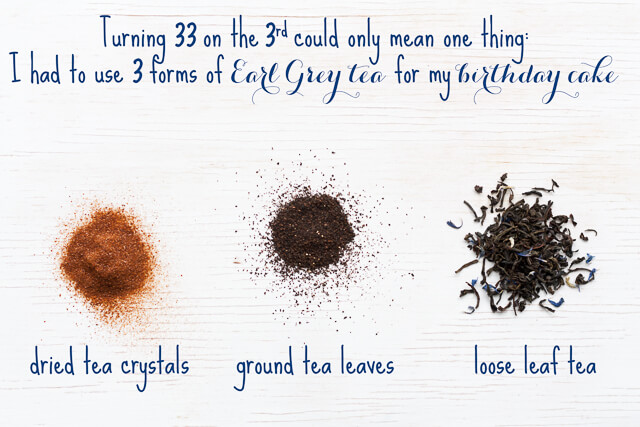 3 forms of Earl Grey tea