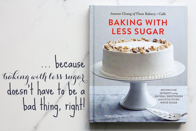 Baking with less sugar cookbook cover