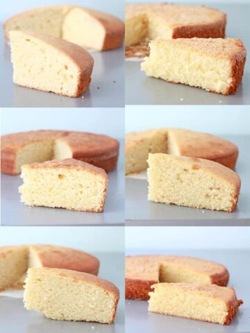 Comparing Vanilla cake crumb to find the best vanilla cake recipe ever
