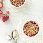 Honey-kissed-strawberry-rhubarb crumbles