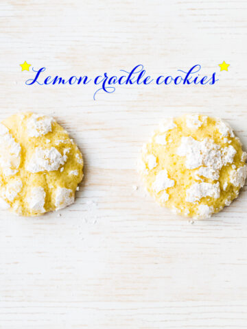 Lemon crackle cookies, also known as lemon crinkle cookies