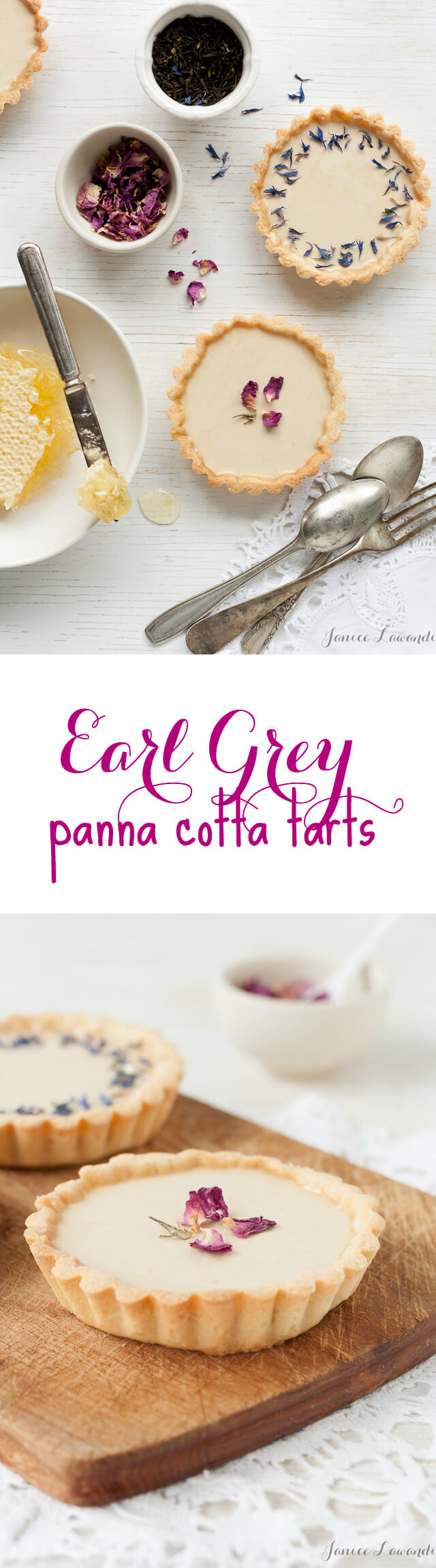Little Earl Grey panna cotta tarts