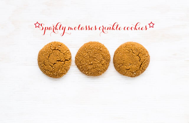 Molasses crinkle cookies - plump giant molasses cookies with a crackled finish