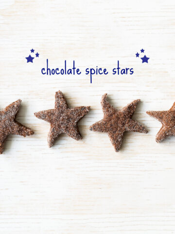 star shaped Chocolate spice cookies