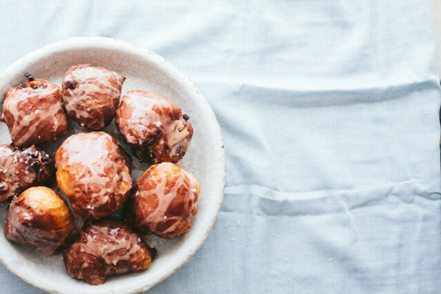 Best rhubarb recipes-Rhubarb Fritters from Not Without Salt