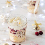 Holiday eggnog & cranberry christmas trifle