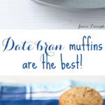 Date bran muffins are the best muffin fresh from the oven or served warm with salted butter