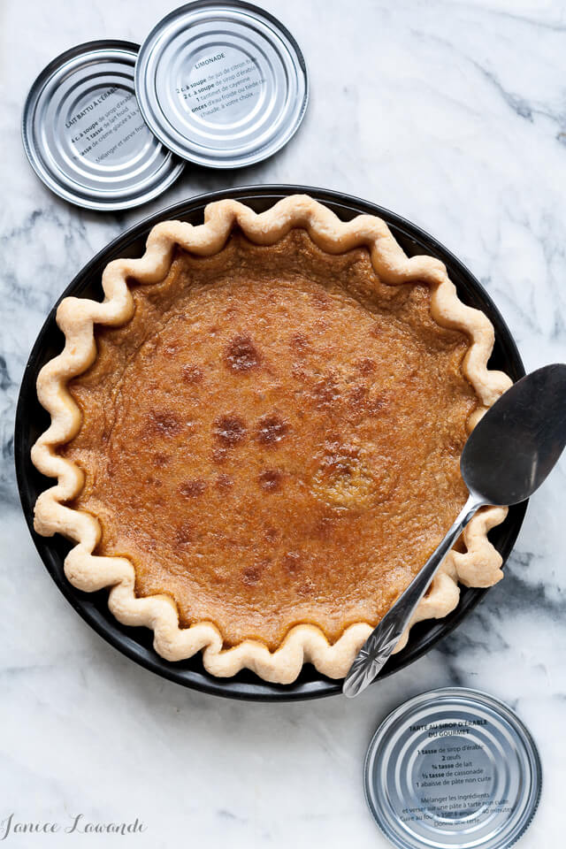 Maple syrup custard pie
