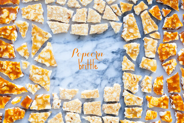 Popcorn brittle
